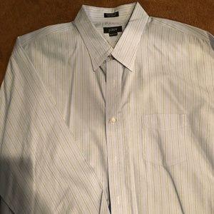 J.Crew Dress Shirt 17 -17 1/2 striped Long sleeve